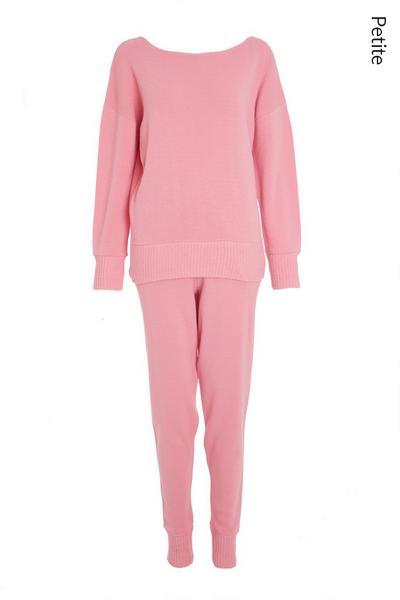 Petite Pink Knitted Lounge set